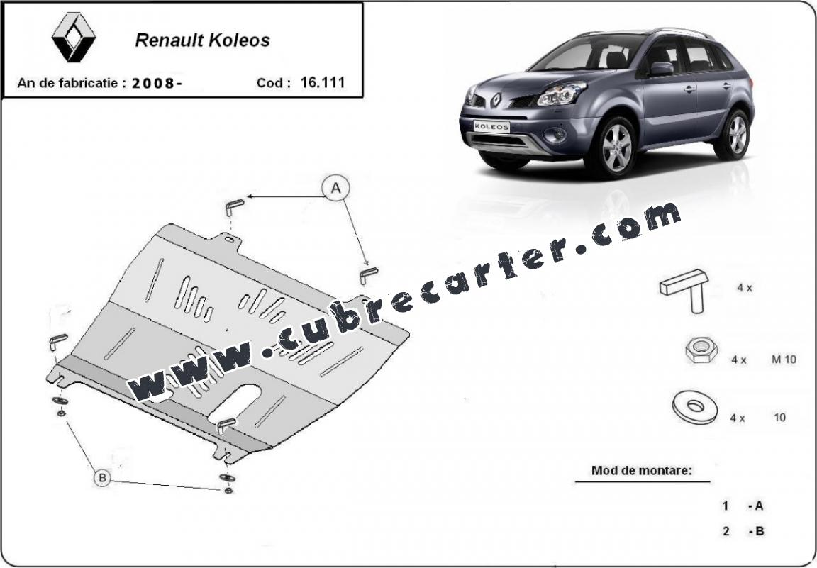 Cubre carter metalico Renault Koleos