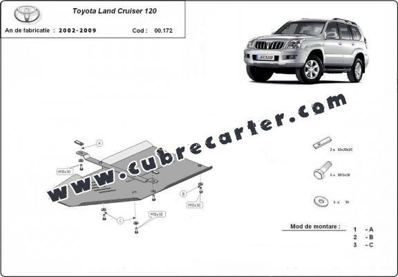Protección del caja de cambios Toyota Land Cruiser