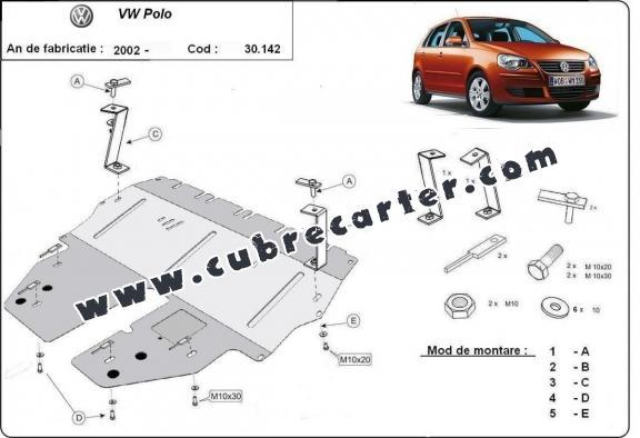 Cubre carter metalico VW Polo