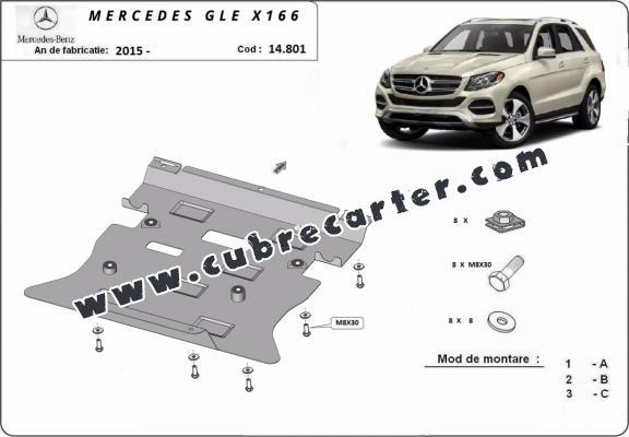 Cubre carter metalico Mercedes GLE X166