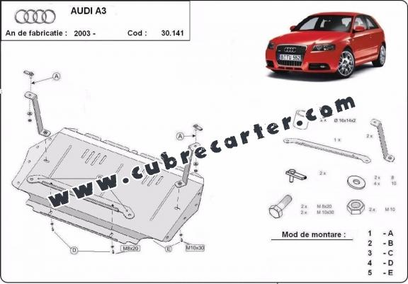 Cubre carter metalico Audi A3