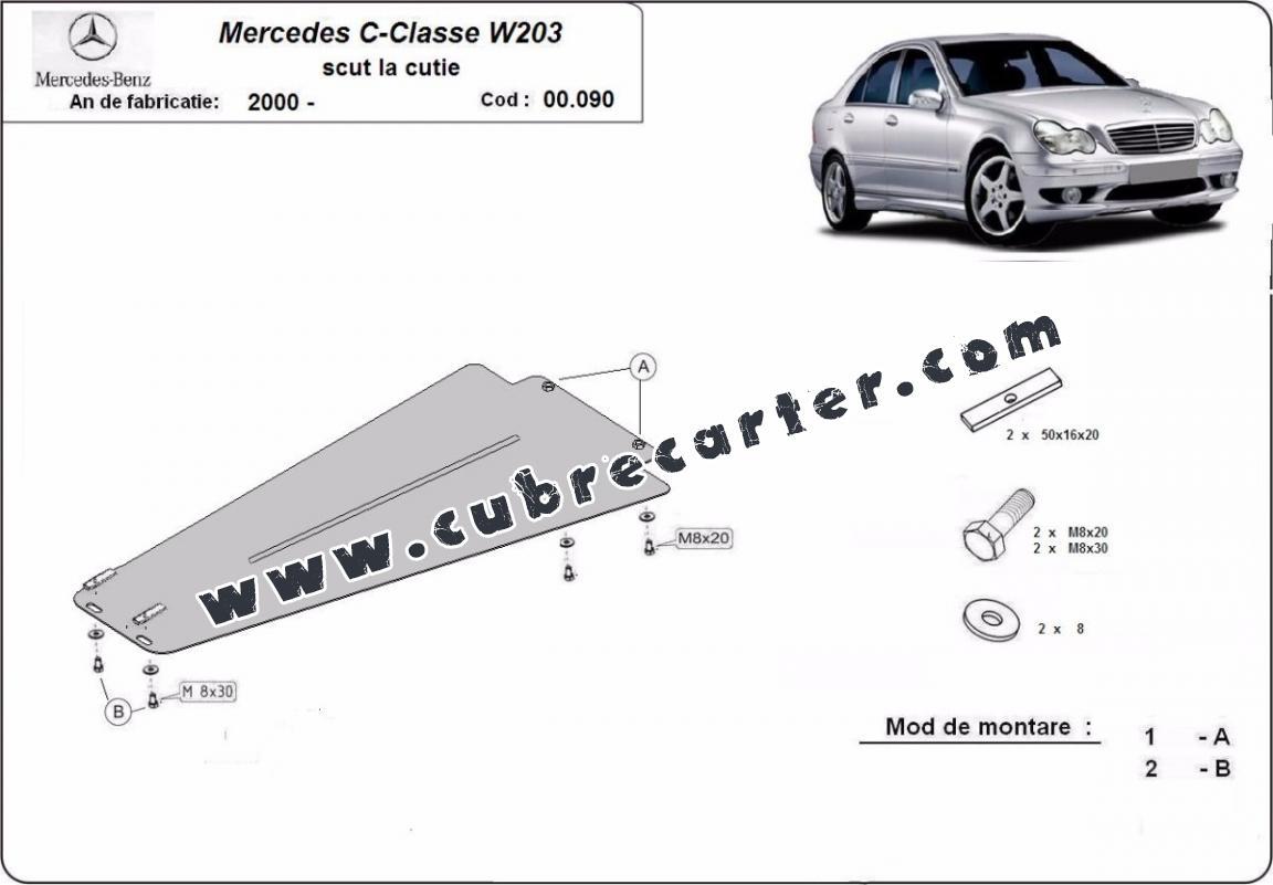 Protección del caja de cambios Mercedes C-Clasee W203