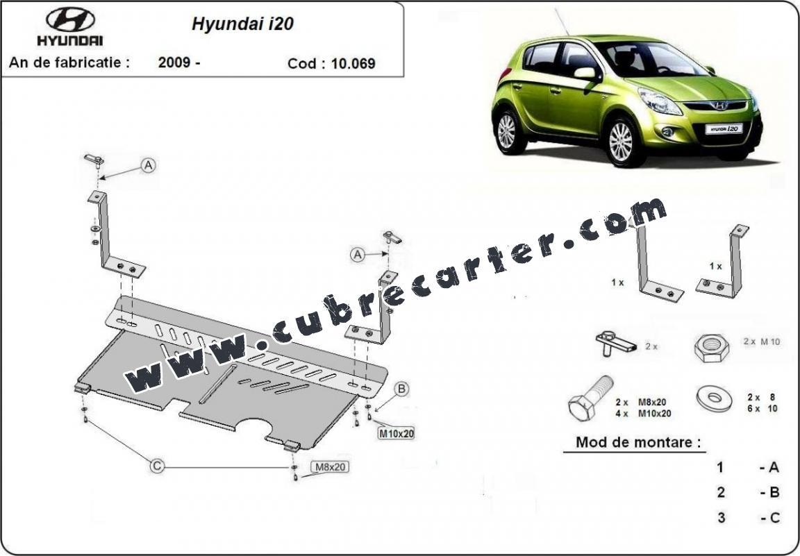 Cubre carter metalico Hyundai i 20
