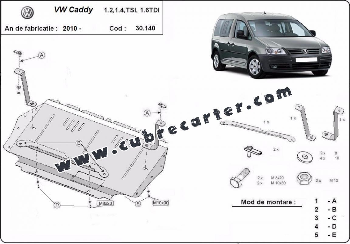 Cubre carter metalico Volkswagen Caddy