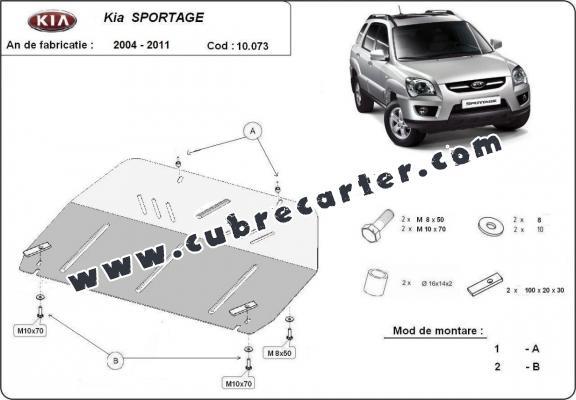 Cubre carter metalico Kia Sportage 2004 2010