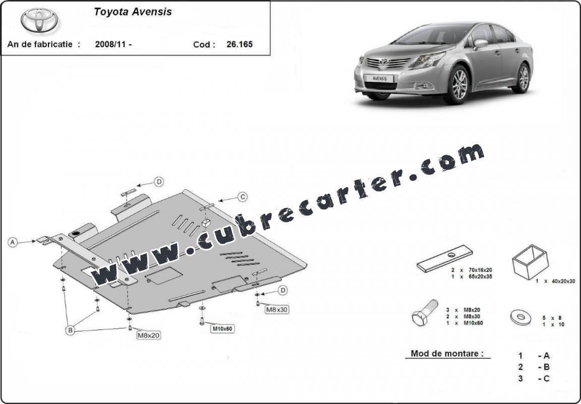 Cubre carter metalico Toyota Avensis
