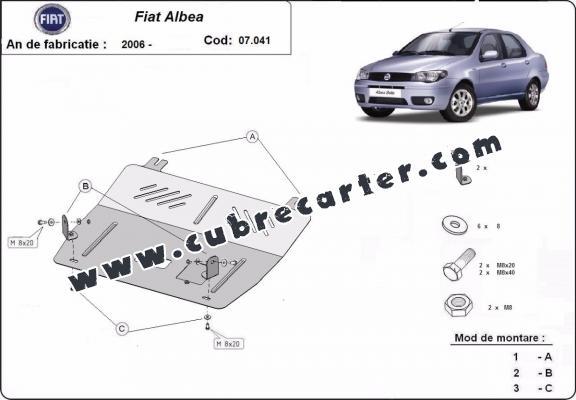 Cubre carter metalico Fiat Albea