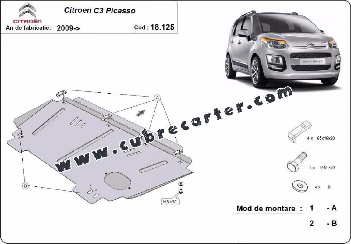 Cubre carter metalico Citroen C3 Picasso