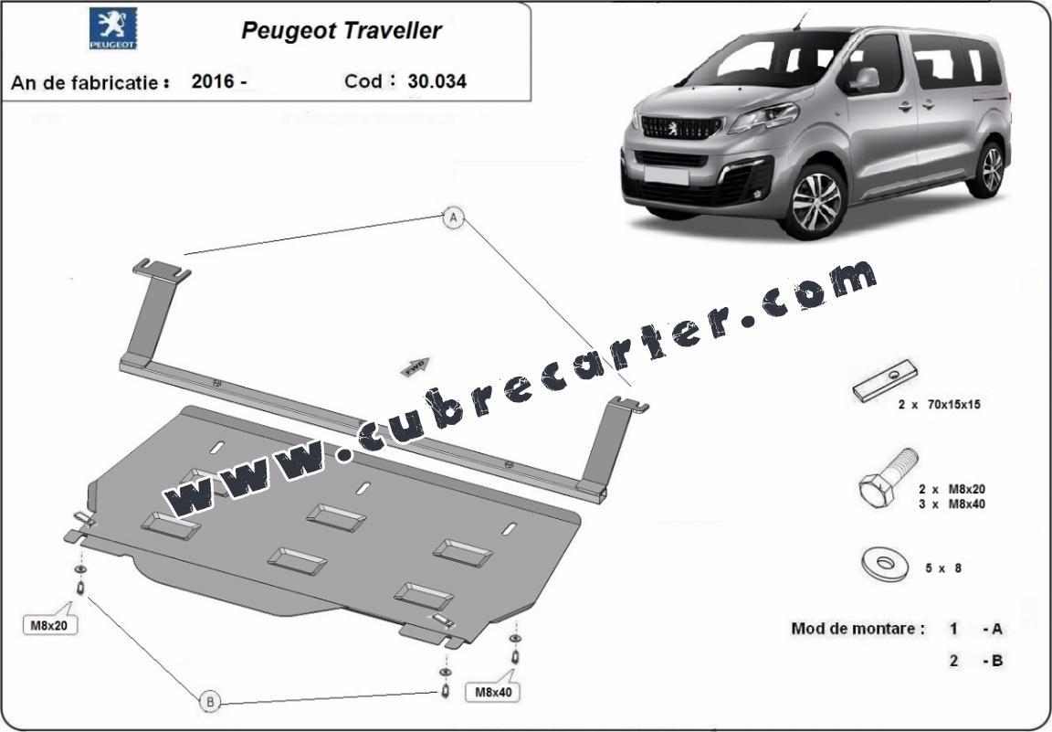 Cubre carter metalico Peugeot Traveller