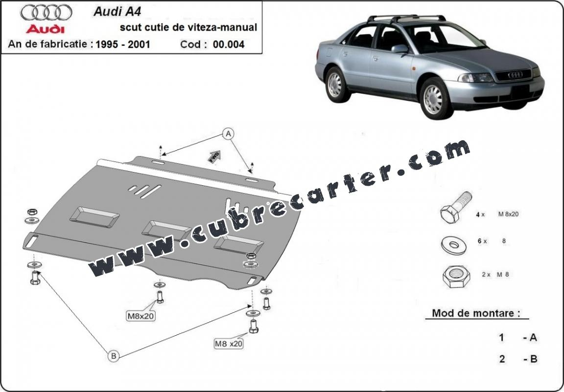 Protección del caja de cambios manuale Audi A4 1