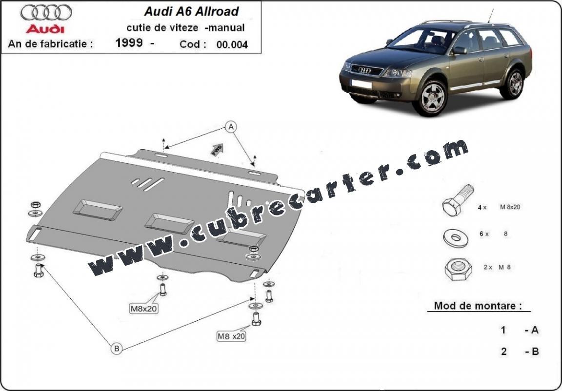 Protección del caja de cambios manuale Audi Allroad