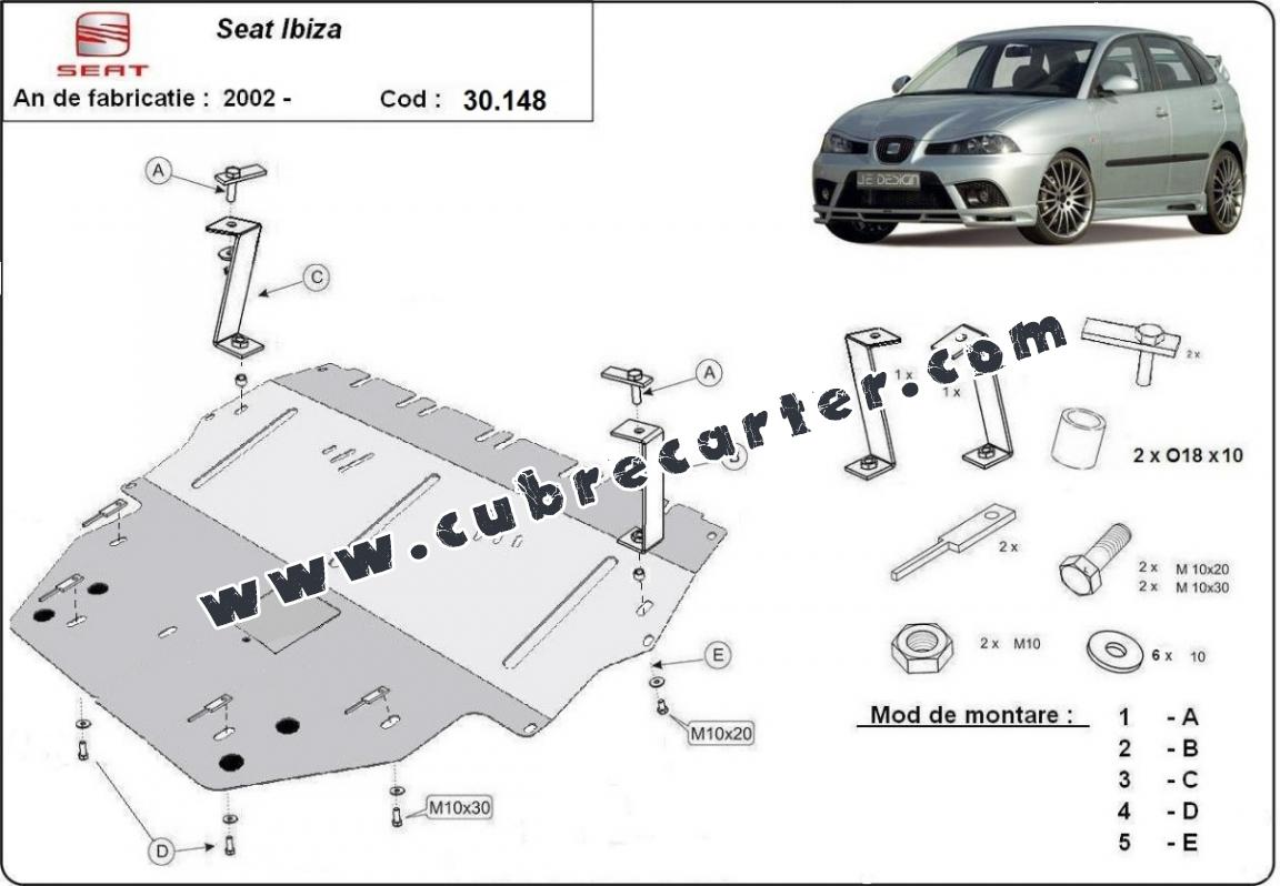 Cubre carter metalico Seat Ibiza Diesel