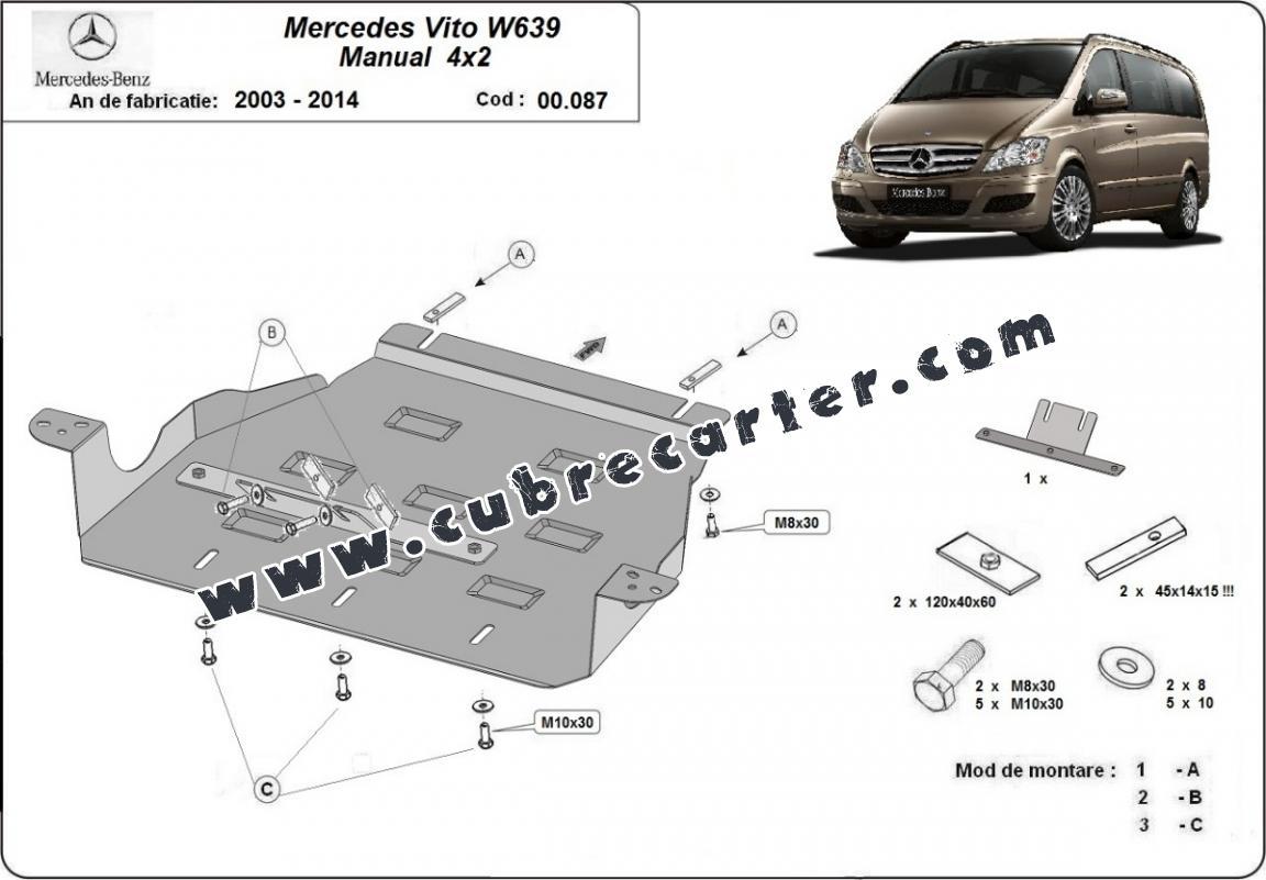 Proteccion Del Caja De Cambios Mercedes Viano W639
