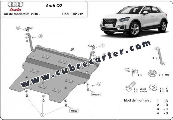 Cubre carter metalico Audi Q2