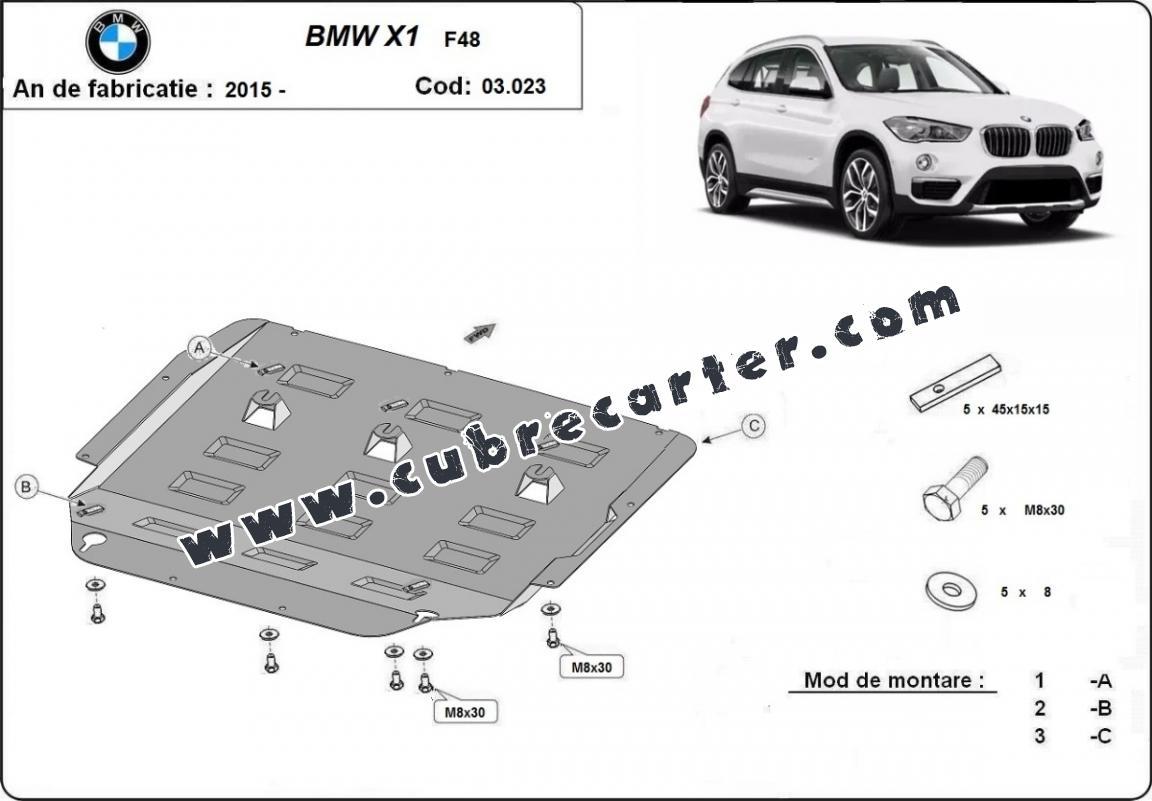 Cubre carter metalico BMW X1 F48
