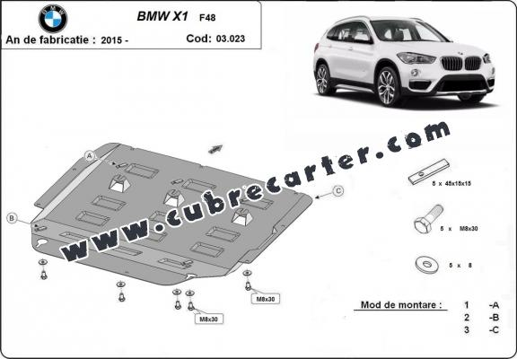 Cubre carter metalico BMW X1 F48
