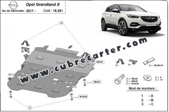 Cubre carter metalico Opel Grandland X