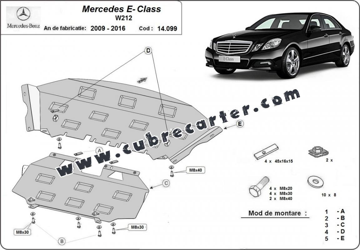 Cubre carter metalico Mercedes E-Classe W212