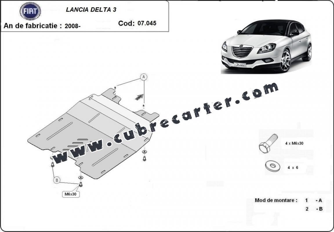 Cubre carter metalico Lancia Delta 3