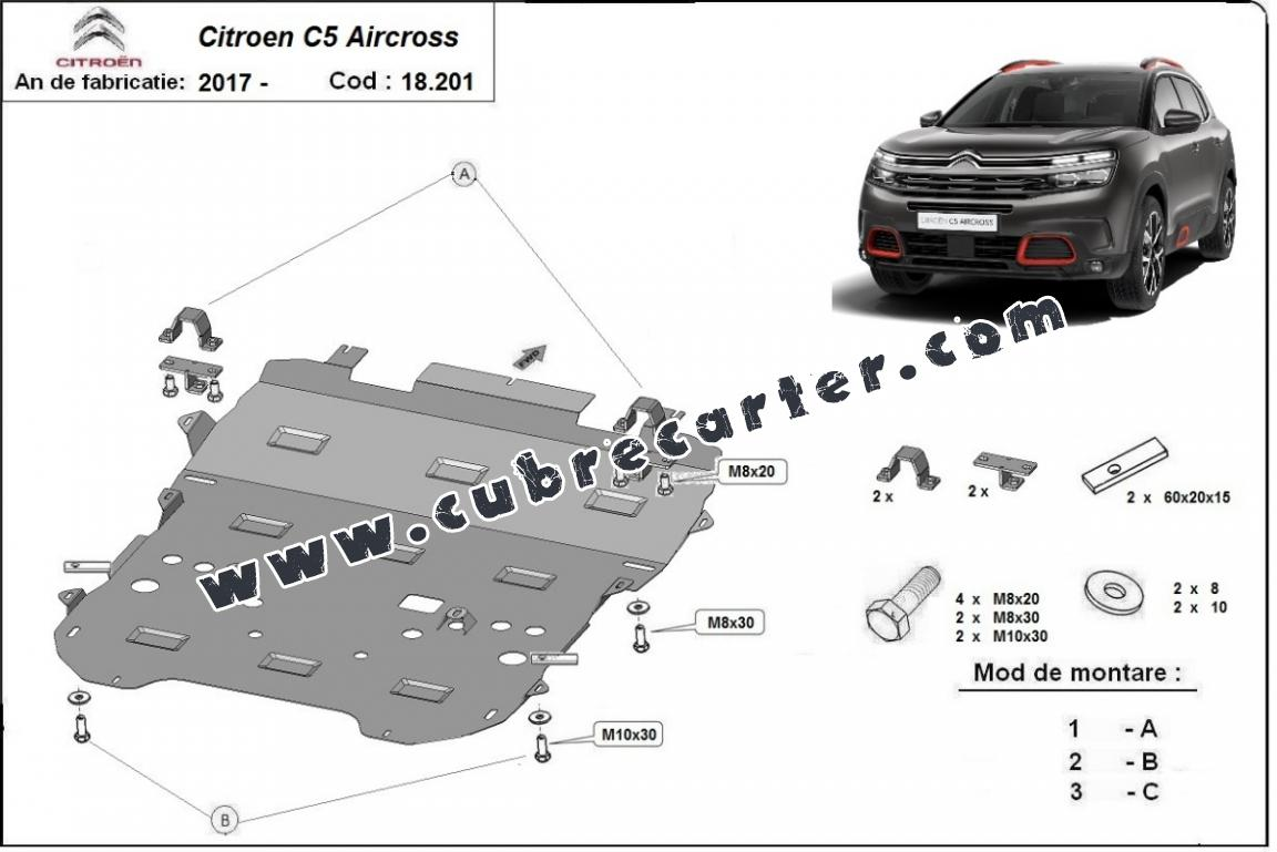 Cubre carter metalico Citroen C5 Aircross