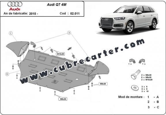 Cubre carter metalico Audi Q7