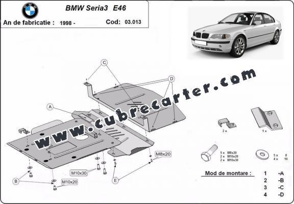 Cubre carter metalico BMW Seria 3 E46