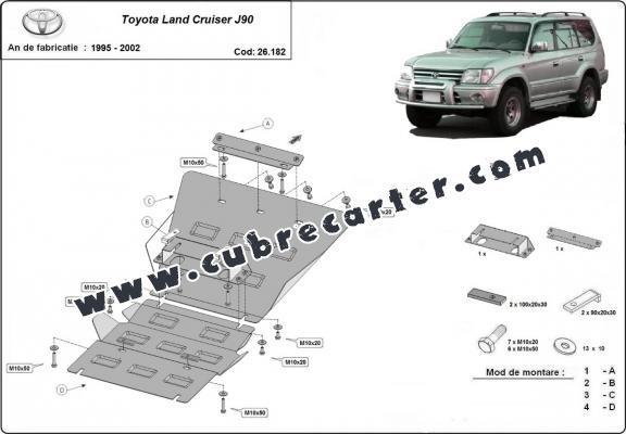 Protección del caja de cambios Toyota Land Cruiser J90
