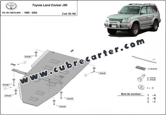 Cubre carter metalico Toyota Land Cruiser J90