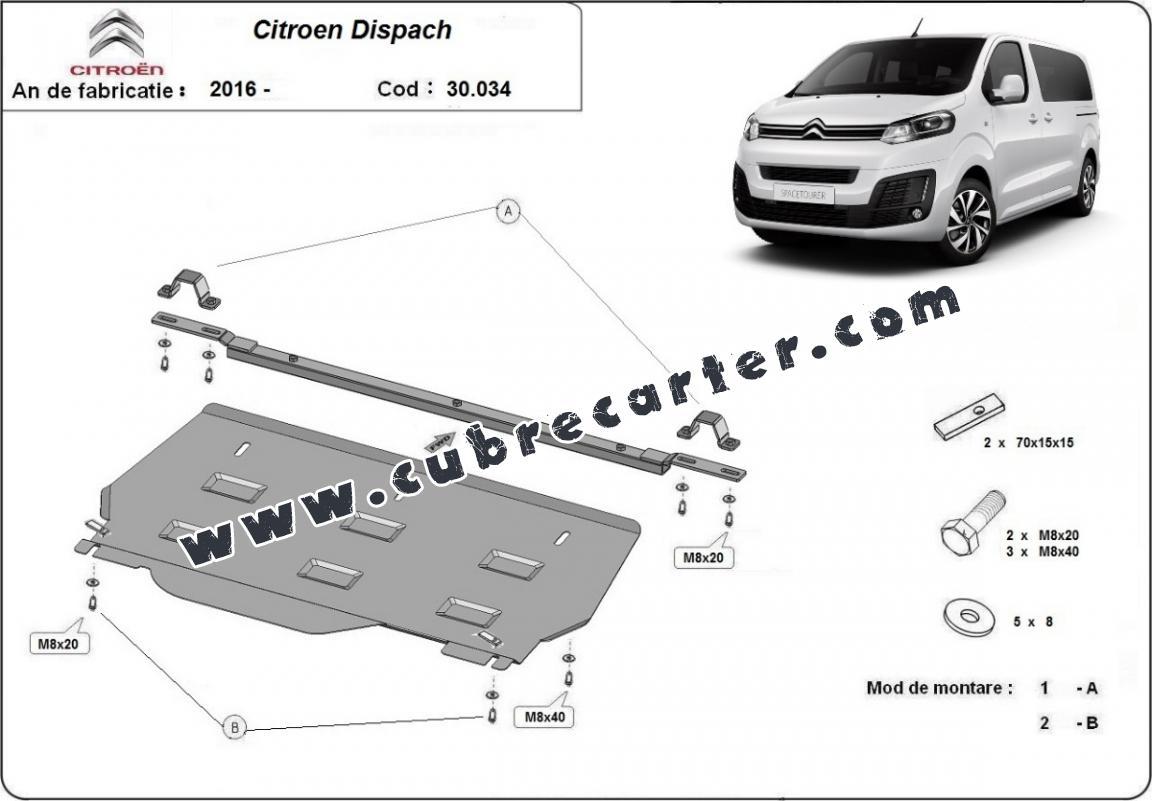 Cubre carter metalico Citroen Dispatch MPV