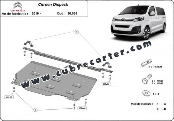 Cubre carter metalico Citroen Dispatch MPV