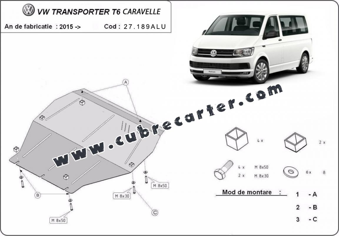 Cubre carter aluminio Volkswagen Transporter T6 Caravelle
