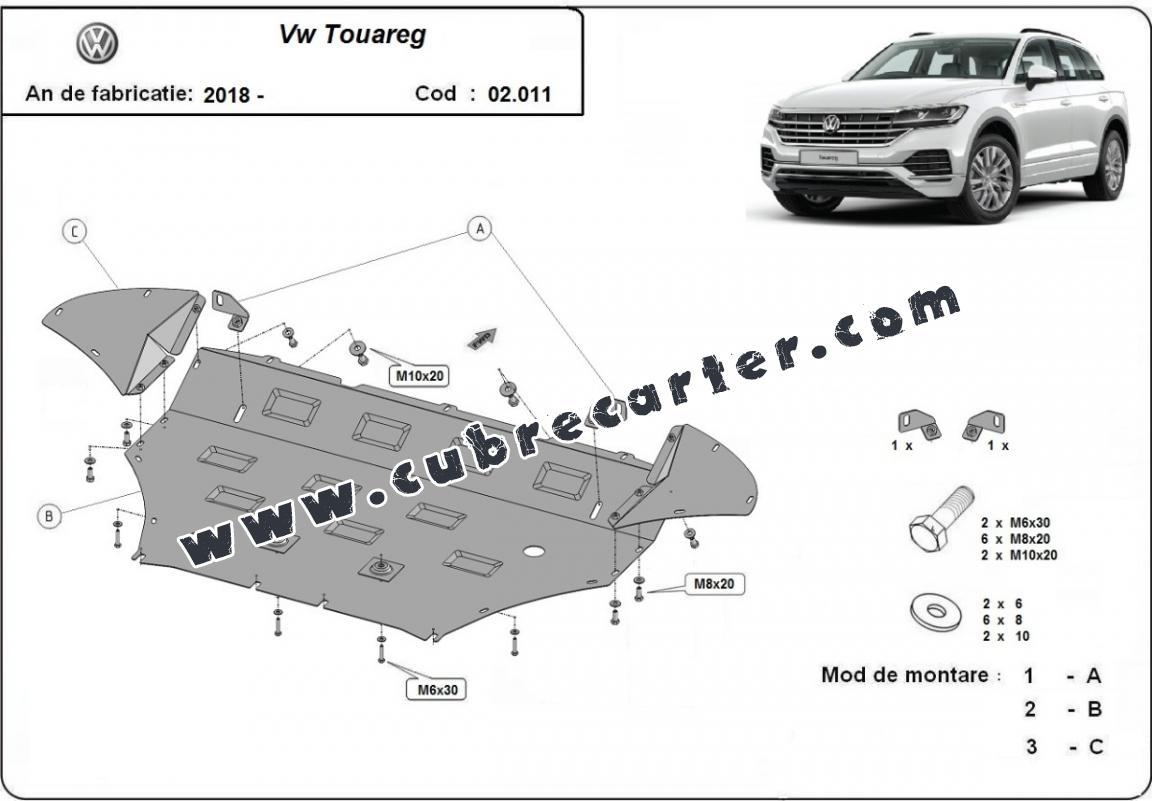 Cubre carter metalico Volkswagen Touareg