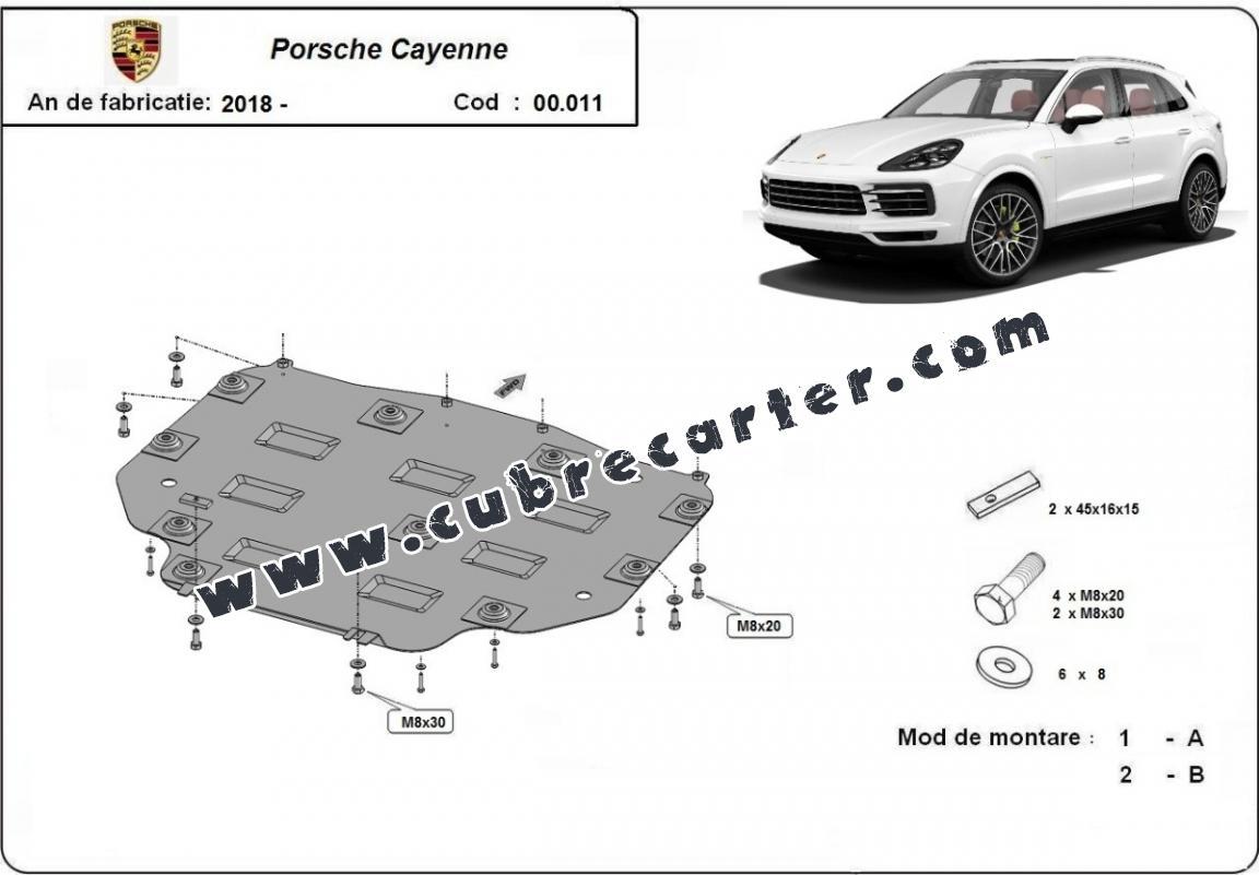 Protección del caja de cambios Porsche Cayenne