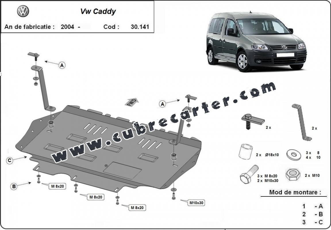Cubre carter metalico VW Caddy