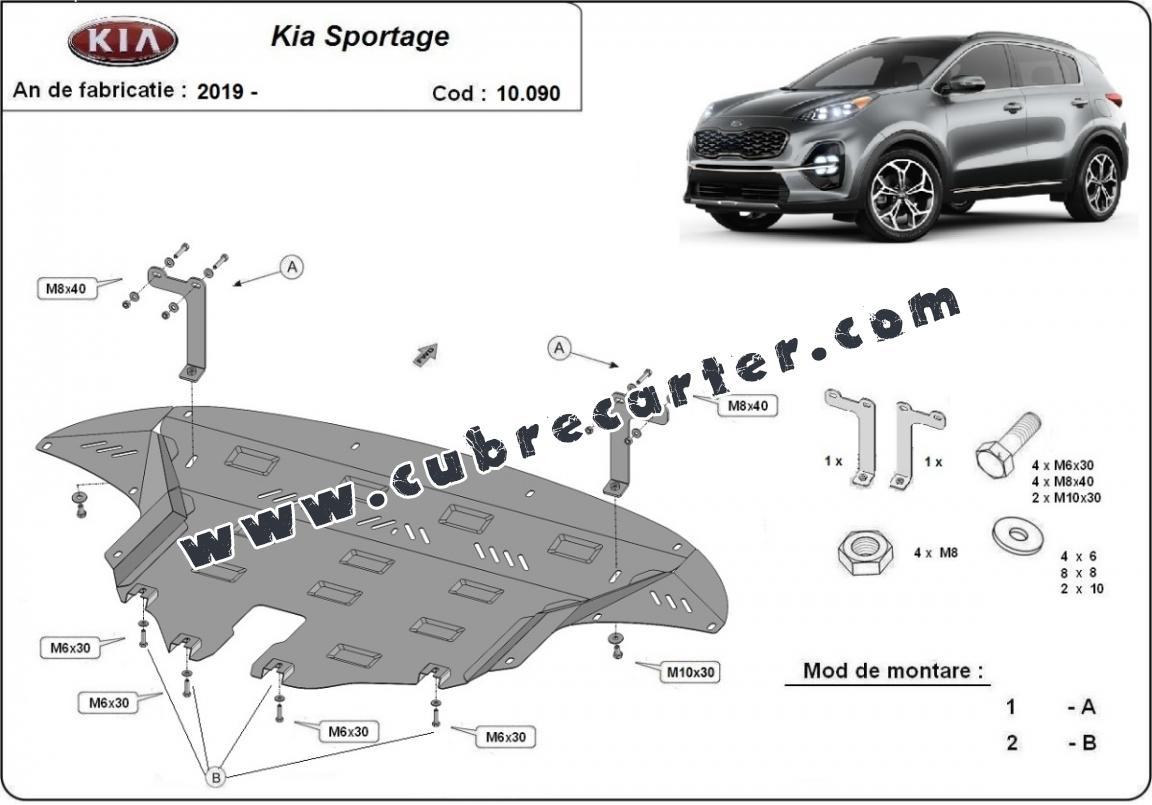Cubre carter metalico Kia Sportage