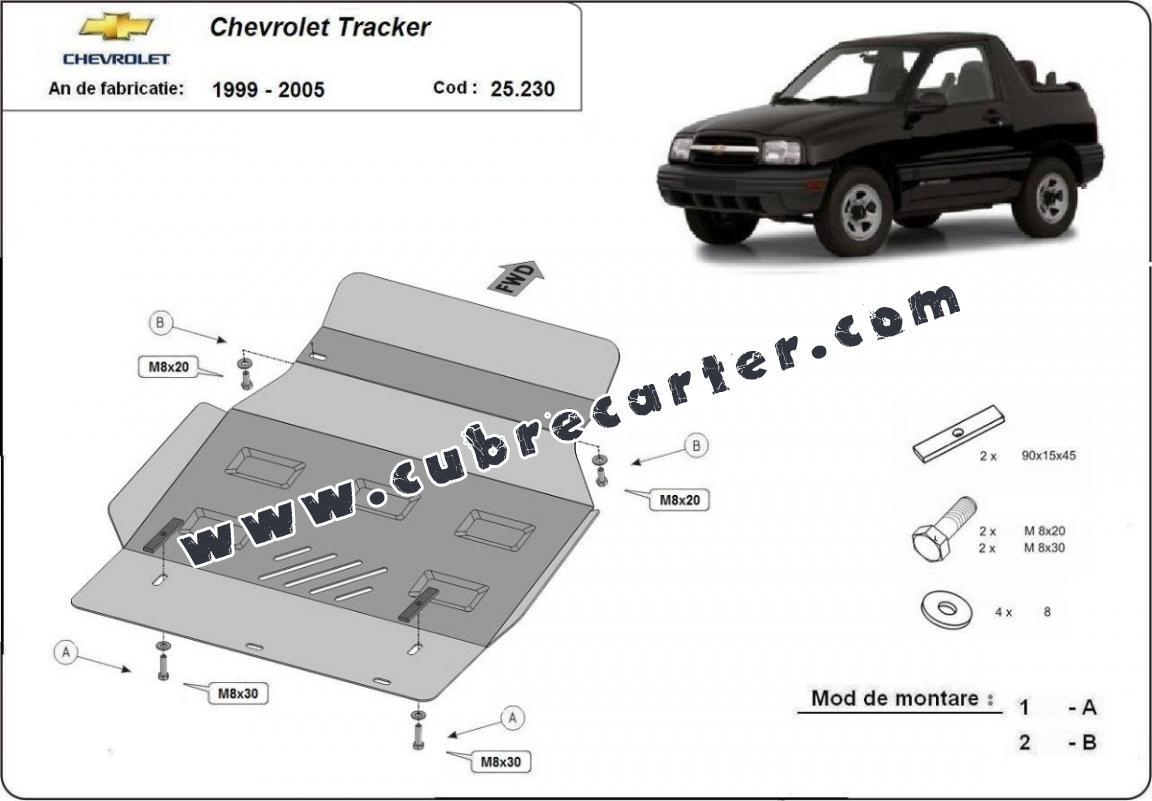 Cubre carter metalico Chevrolet Tracker