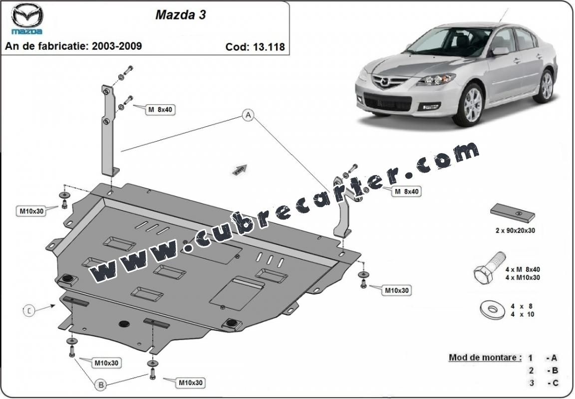 Cubre carter metalico Mazda 3