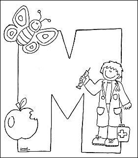 Dibujos Para Pintar Que Empiecen Con La Letra M