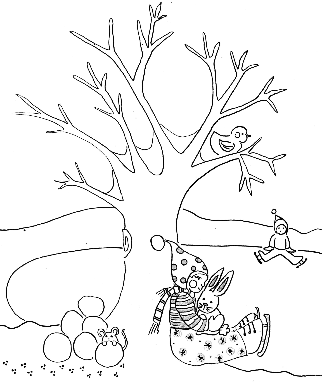 Dibujo Invernal Para Colorear