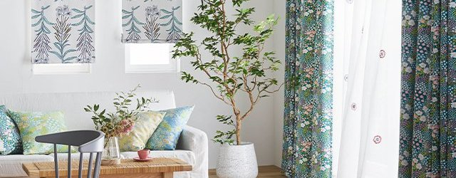 北欧カジュアルな「DESIGNLIFE(デザインライフ)12」のカーテン ボタニカルデザインの北欧風新作カーテンをご紹介! デザインライフ おしゃれなカーテン おすすめ デザイン