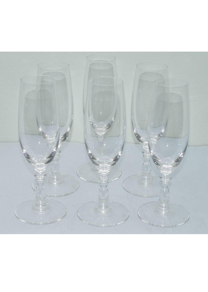 Alessi Dressed Glasses Champagne 6 Pcs