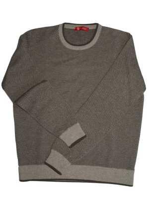 Piacenza Cashmere Mens Crewneck Sweater