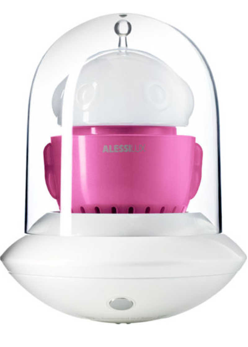 Alessi Ufo Portable Table Lamp White Pink