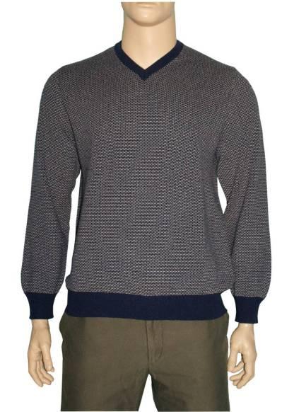 Piacenza Cashmere Mens V Neck Sweater