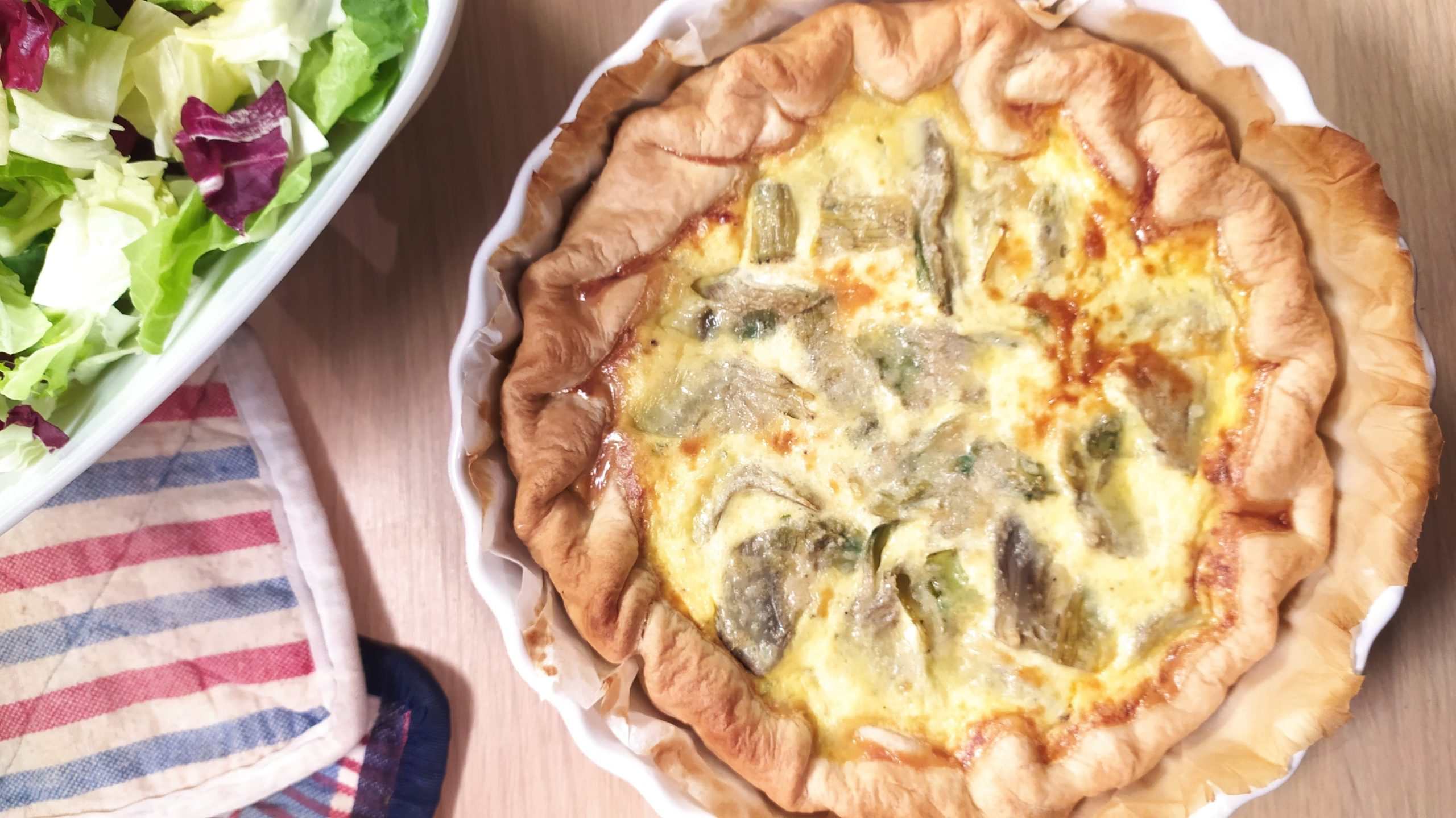 artichokes and cheese savory pie