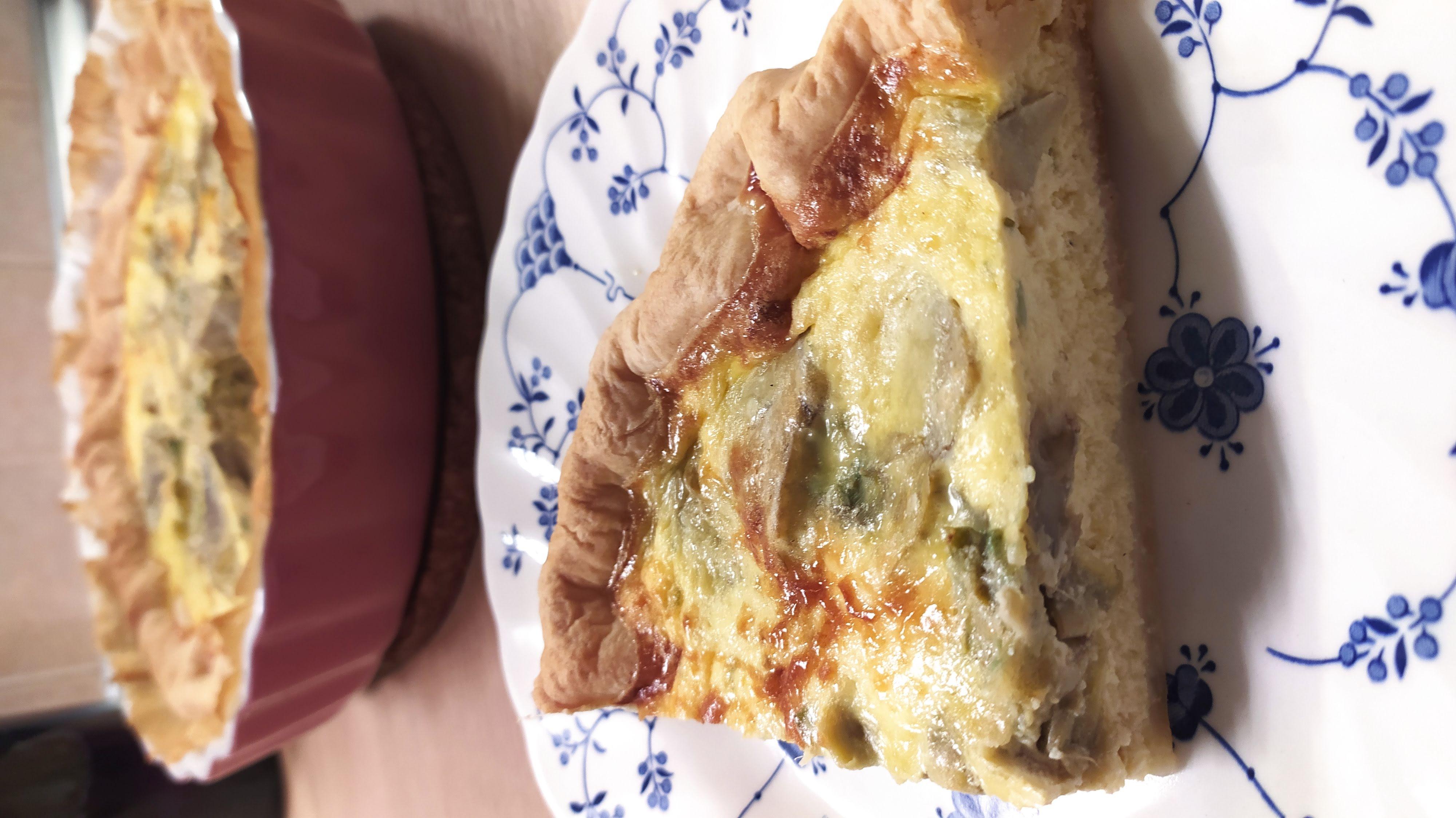 slice artichokes savory pie