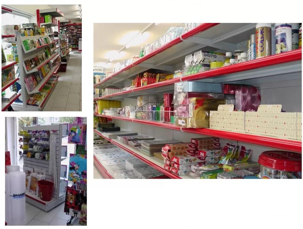 Arredamento negozi cartoleria Sardegna Nuoro Olbia Sassari Cagliari