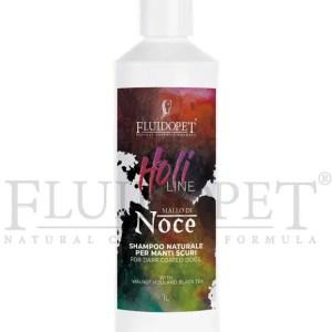 Mallo di Noce Shampoo Naturale per manti scuri – FluidoPet Holi Line