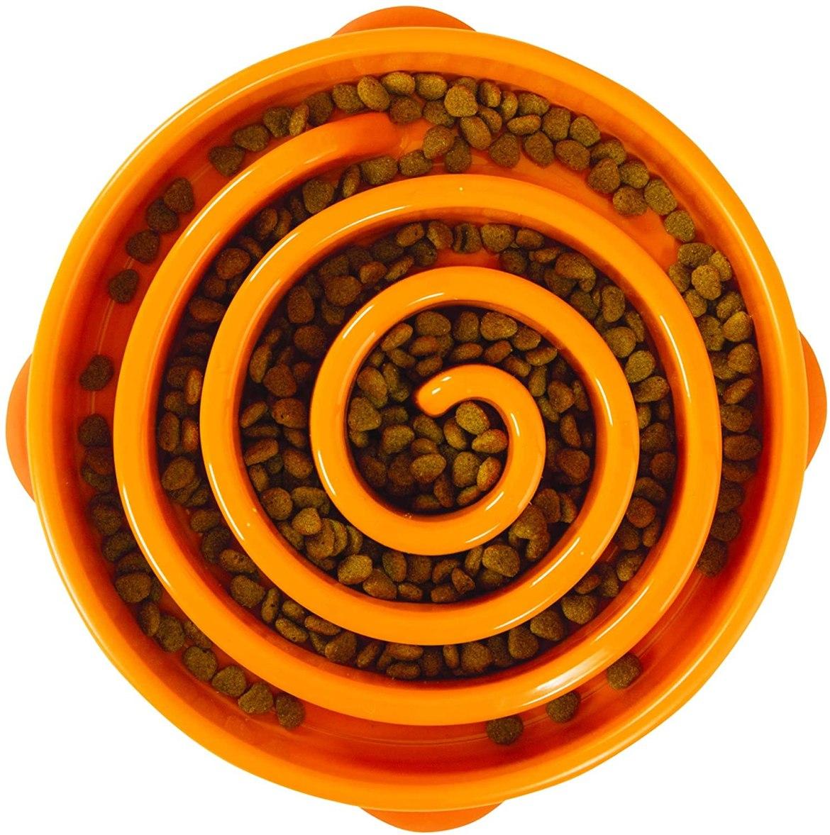 ciotola a spirale per cani