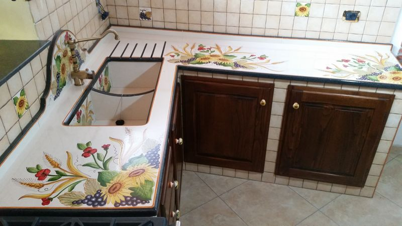 I decori delle cucine in muratura siciliane  CuCeMur